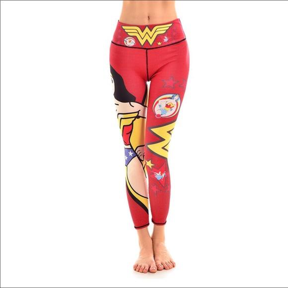 fe05fb435e lotus leggings Pants | Wonder Woman Print | Poshmark